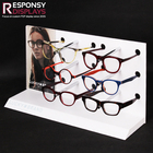 One-Stop Service Sunglasses Shelf Display Hot- Sale New Style Acrylic and PVC Countertop Sunglasses Display Shelf
