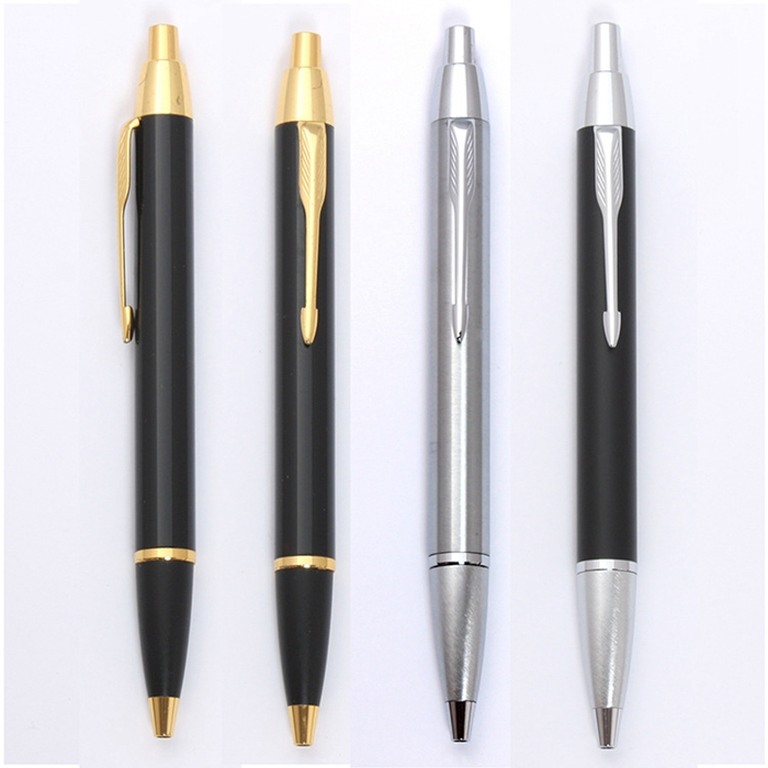 Custom logo cheap metal ballpoint pen metal cutting laser pen