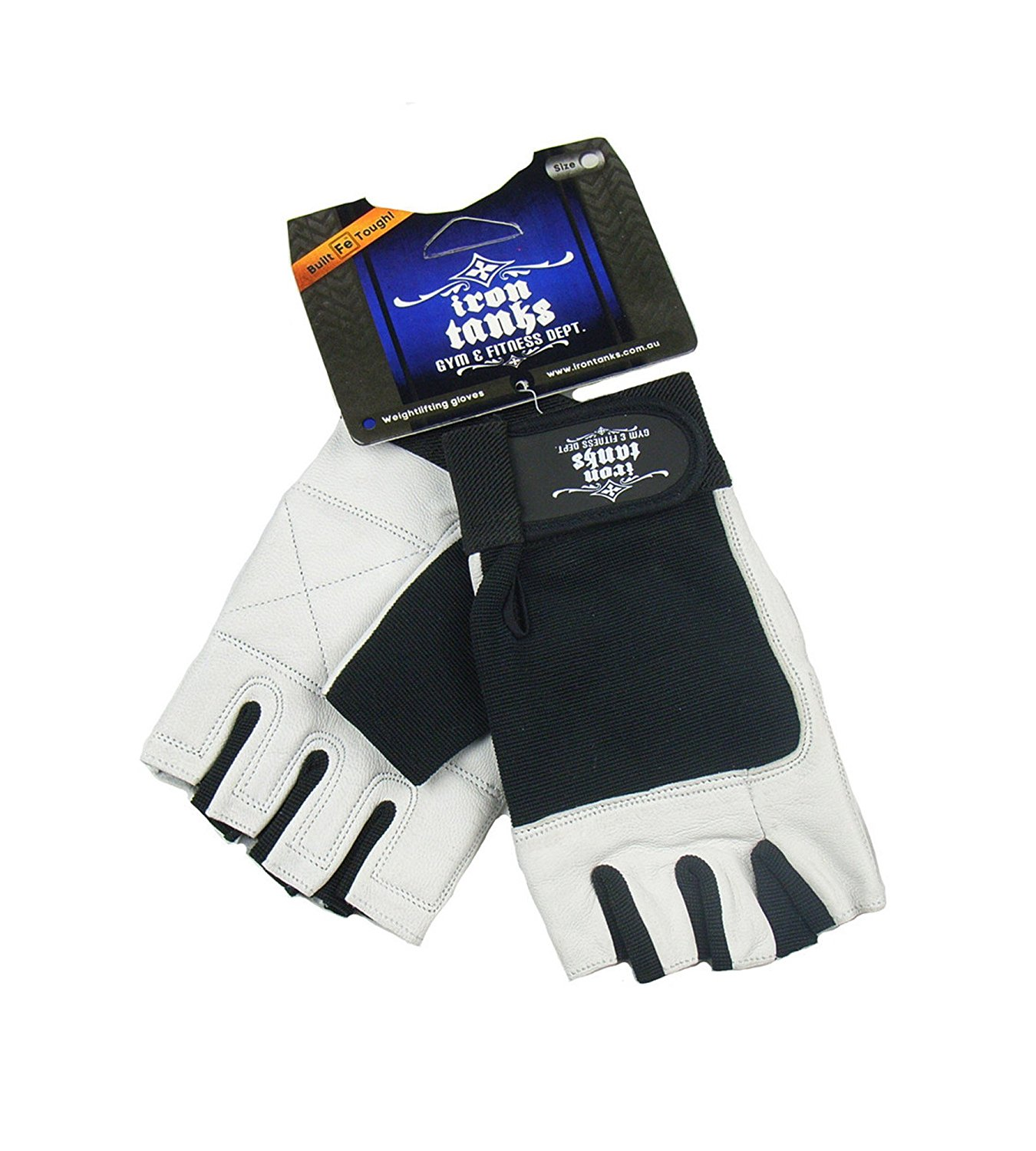 Iron Tanks Premium Leather Weightlifting Gloves