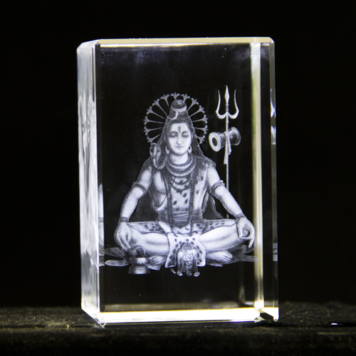 K 9 material crystal gifts with 3d laser engraved india gods