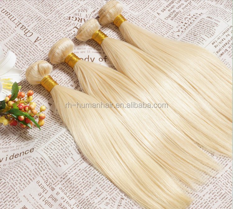 blonde synthetic hair weave platinum blonde human hair mixed synthetic fiber hair weaving