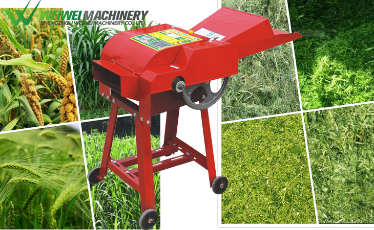 High quality small animal feed cutting chaff cutting grass chopper machine
