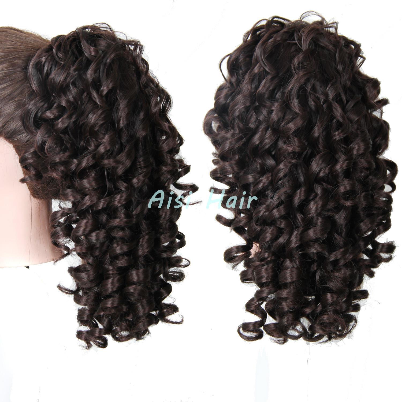 Длинные вьющиеся синтетические волосы шнурок хвост шиньоны коготь клип в хвост наращивание волос мой Lttle пони поддельные волосы Ponytails