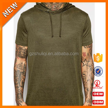 e3d9652997eb Men s blank short sleeve hoodie custom cotton own logo pullover sweatshirt  hoodies