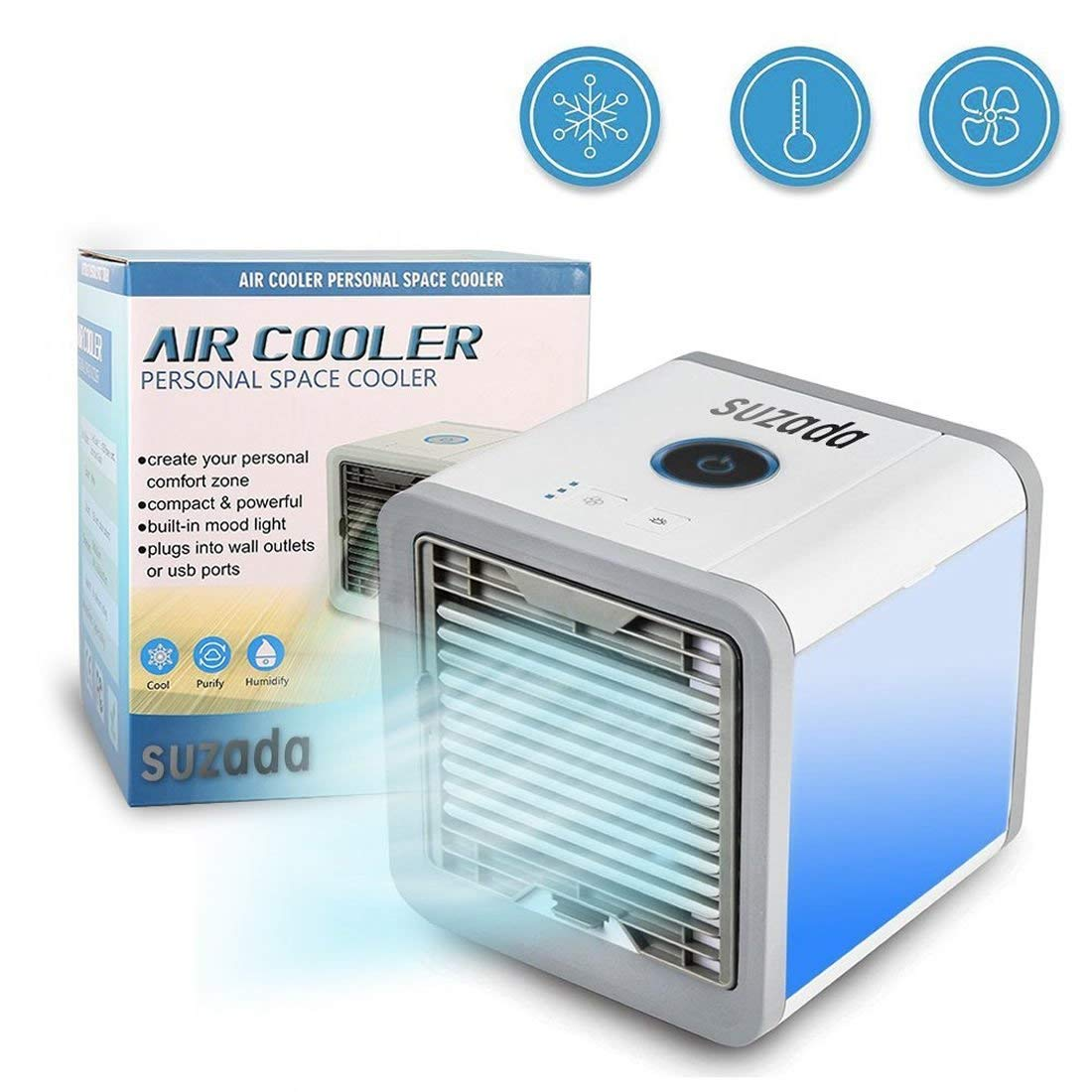 AlenX portable air conditionerwith Humidifier and Air Purifier,arctic air personal space cooler,Portable Space Cooler for 45 Square Feet