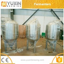 conical bottom beer fermentation tank with steam heating method