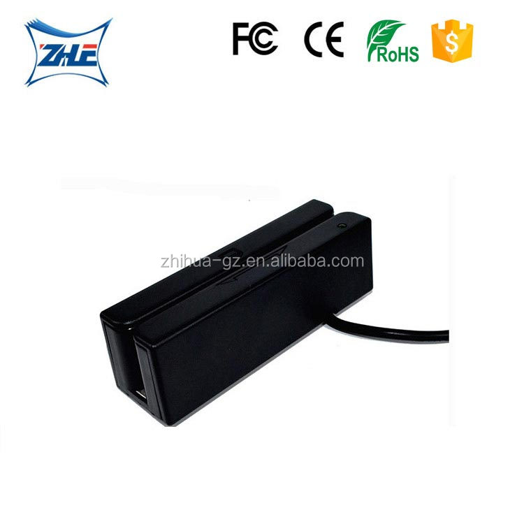 Full tracks ISO7811 Standard 90mm MSR magnetic stripe card reader
