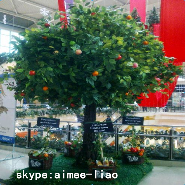 Q010408 Artificial Big Trees Bonsai Plants Fake Apple Tree
