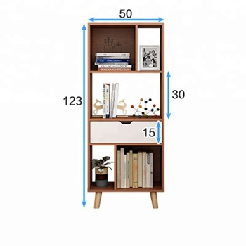 Movable Bookshelf Storage Cabinet Home Bookcase With Legs