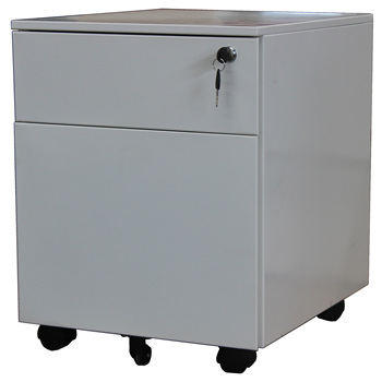 Luoyang office steel furniture Pre-assembled vertical A4 hanging storage mobile pedestal file cabinet with two drawers