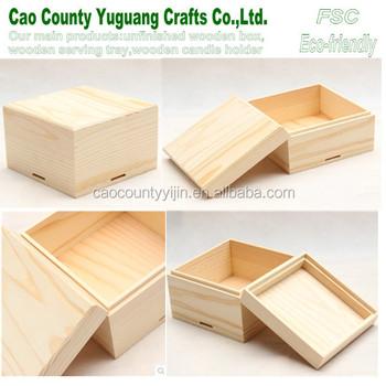 Unfinished Wood Gift Boxes,Wood Gift Card Box,Gift Pine Wood Box ...