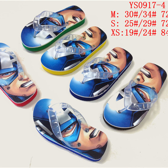 0bcde869bb9f21 Wholesale custom printed led light eva boys flip flops beach kids slippers