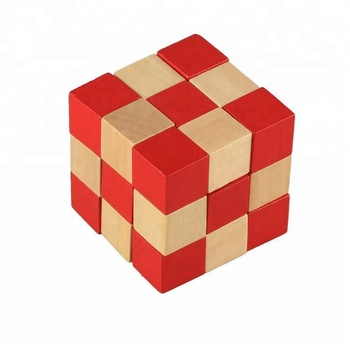 Wooden Cube Puzzle 3X3 Game,Folding Magic Cube Puzzle Solution ,Cube Toy Puzzle
