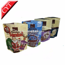 Christmas Santa printing stand up Matt poly chocolate bar package bag