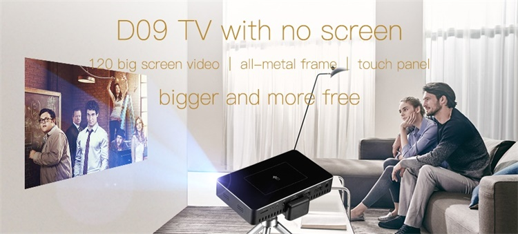 RK3128 mini projector with battery/usb/wifi/speakers interaction projector