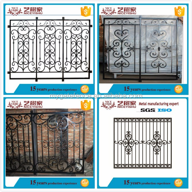 Yishujia factory awning window steel grill design steel for Modern zen window grills design