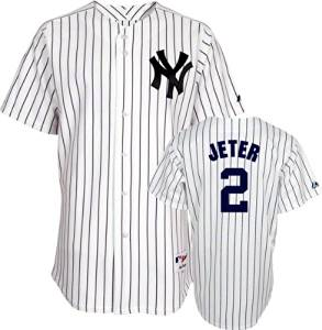 Derek Jeter Jersey  Youth Majestic Home White Pinstripe Replica  2 New York  Yankees efc831ac011