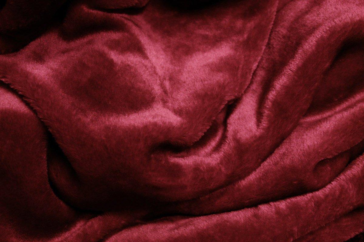 Archangel Reversable 2Ply Queen Solid Mink Blanket - Burgundy
