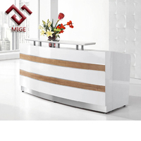 high end marble white modern hotel reception desk