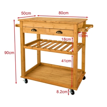 New Design Wood Kitchen Island Storage Trolley Cart With Drawers