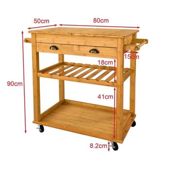 New Design Wood Kitchen Island Storage Trolley Cart With Drawers Bamboo Folding Kitchen Trolley Buy Folding Kitchen Trolley Kitchen Storage