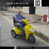 24V 1200W 75AH Handicapped disabled 3 wheel one seat electric tricycle car motorcycle