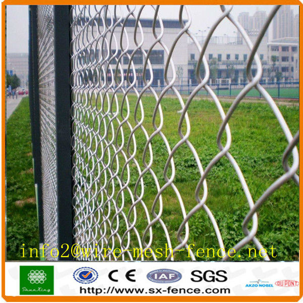 PVC coated green chain link wire mesh fence(made in Anping , China)
