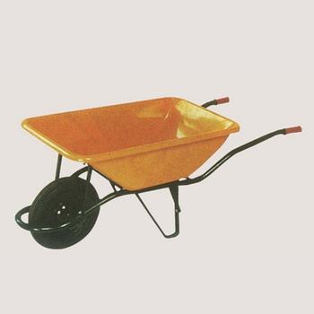 6CBF 75L Steel Wheelbarrow For Construction Gardening Cart Spain Hot Sale  Wheelbarrow