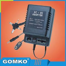 Power Supply AC-DC Transformer Adapter With Multivoltage Plugs 3V-12V