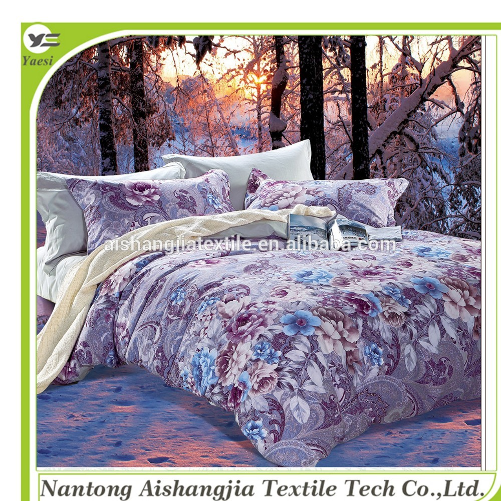 Economic and Efficient 3D red flower printed wed bedding set for sale