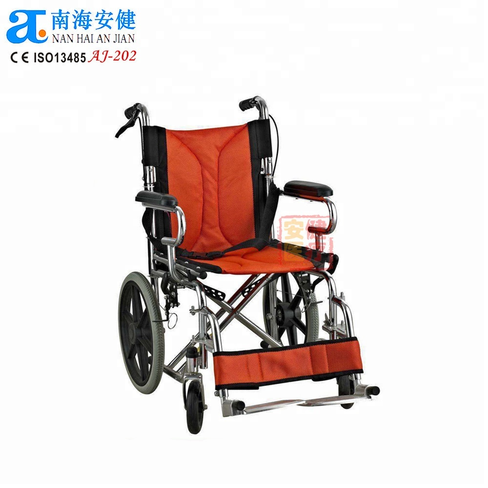 Foshan Rehabilitation Therapy China Supplies Properties wheelchair dimension portable foldable backrest wheelchair