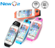 Large capacity light reflective colorful cell phone case running belt waist pack with zipper