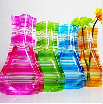 China Supplier Pvc Plastic Foldable Disposable Flower Vase Buy