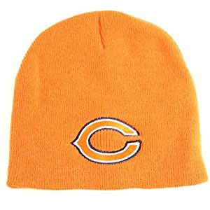 the latest 73c49 117a1 Get Quotations · Chicago Bears Classic Knit Beanie - Orange