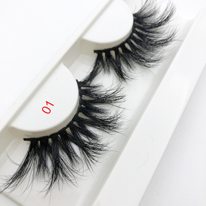 New design longer 27mm 25mm eyelashes naturally 5D 3D mink lashes