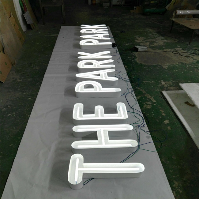 Outdoor advertising storefront metal lighting 3d led letter sign board