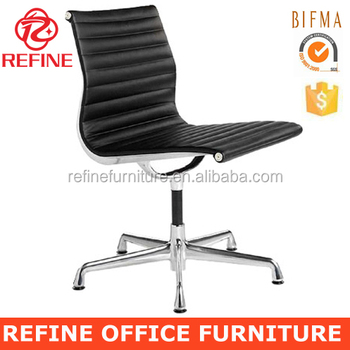 on sale 6387b 334c5 Ea 105 Black Armless Leather Office Chair No Wheels For Conference Room And  Dining Room Rf-s072k - Buy Armless Leather Office Chair,Ea 105 Armless ...