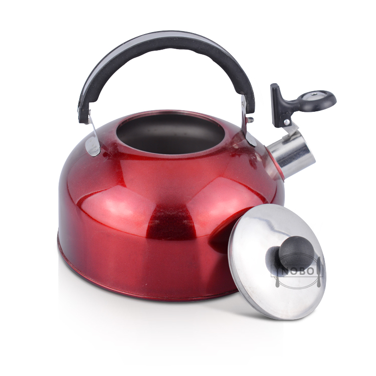 Kitchen accessories stainless steel water kettle whistle tea kettle with color