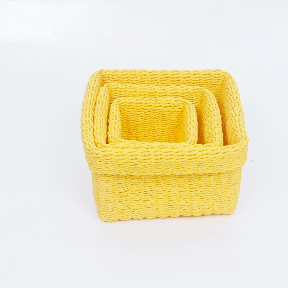 Woven Shallow Paper Rope Storage Basket /square Paper Straw Basket And  Trays   Buy Square Paper Rope Storage Baskets,Straw Baskets And Trays,Woven  Shallow ...