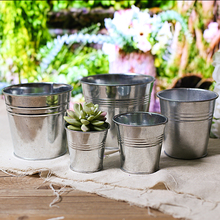 garden decorative color galvanized mini metal buckets small metal mini bucket