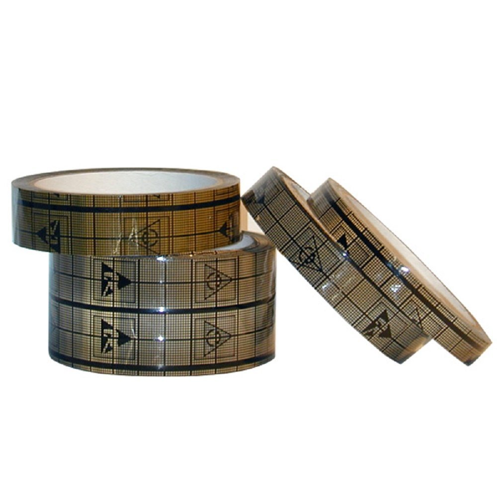 "Conductive Grid Tape | ESD, EMI Shielding, Anti Static Grid Cellophane 3 Layer Tape | StaticTek Guardian Tape | - 1/2 Inch X 118 Feet - 3"" Core - Pack of 24 | TT_CT1204"