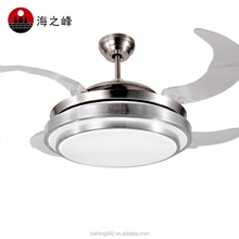 56w Led Licht Deckenventilator Mit Versteckten Acryl Klingen