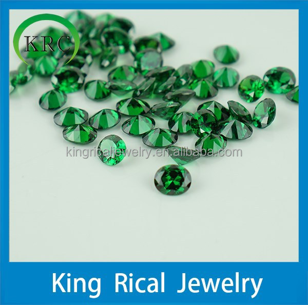 Hot sell oval cut green cubic zircon stones