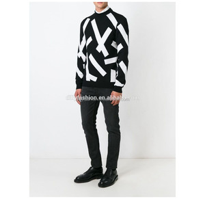 cashmere mens intarsia hand knitted wool sweater design
