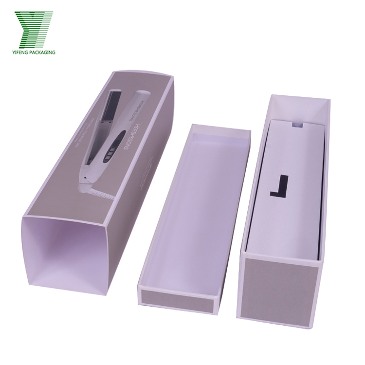 Recycle hair straightener cardboard paper gift packaging box