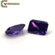 Synthetic zirconia amethyst octangle gemstones best sale cubic zirconia stone beads