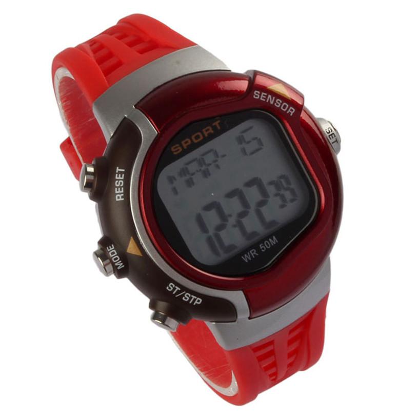 Улучшенный новинка фитнес монитор сердечного ритма спортивные часы счетчик калорий водонепроницаемые часы July15
