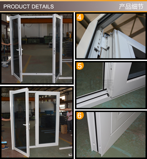 Cheap House Aluminum French Doors And Windowsused Exterior French