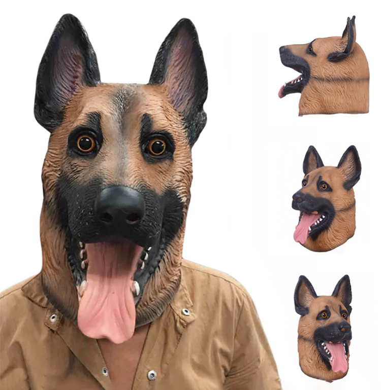 Adult realistic latex mask animal mask latex Halloween wolf  Huskies mask