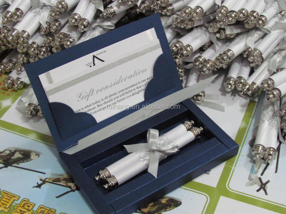 Luxury Paper Scroll Wedding Invitation Card with Decorative Box – Luxury Wedding Invitations in Boxes